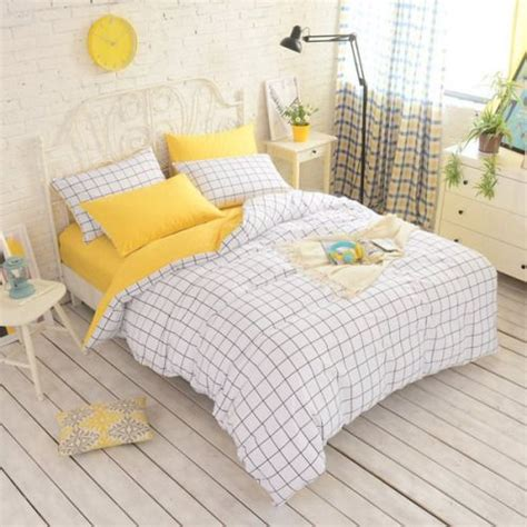 pastel yellow bedroom yellow grid bedding 36 30 kawaii aesthetic pastel