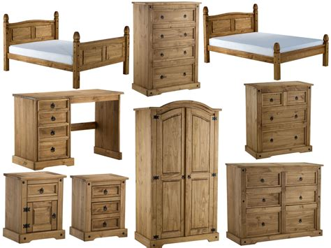 birlea corona pine bedroom furniture distressed waxed