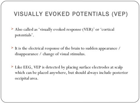 pattern appearance vep electrophysiology in ophthalmology