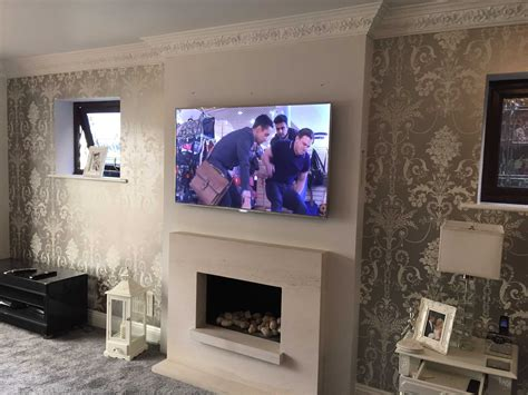 Hanging Tv Gas Fireplace by Tv Gallery Master Av Services
