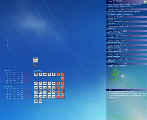 Desktop Calendar Windows Windows 7 Desktop Calendar App Calendar Template 2016