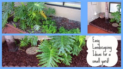 easy backyard landscape ideas easy landscaping ideas for a small yard with mulch
