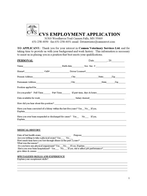 printable job applications walgreens cvs pharmacy printable application form autos post