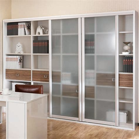 Book Cabinet With Glass Doors Frosted Glass Door Wooden Book Cabinet Sg21107a252