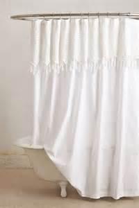 white fringe shower curtain b a t h r o o m s