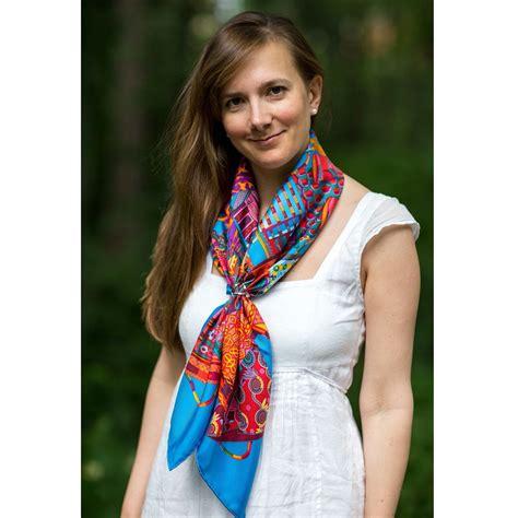 Hermes Satin Shawl hermes voyage en etoffes scarf silk neck scarves