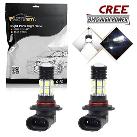 Lu Led Motor Cree partsam 2pcs 9145 h10 fog driving light genuine cree xp e 12 epistar 5050 smd chip power
