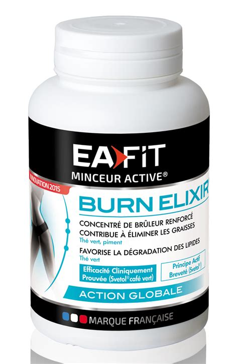 Ea Fitness by Br 251 Leurs De Graisse Ea Fit Burn Elixir Pilulier De 90