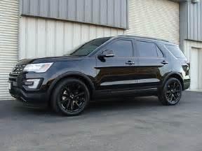 2016 ford explorer limited black black blacked out