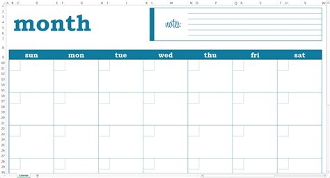 Blank Monthly Calendar Excel Printable Calendar Template 2018 Monthly Schedule Template Excel