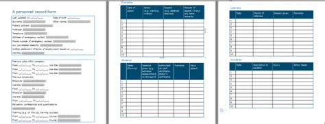 Personnel Record Form Template Personnel Records Template