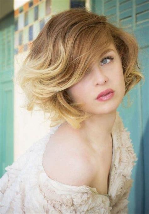 short ombre hair with bangs 17 medium length bob haircuts short hair for women and