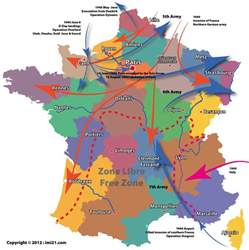 World War Map by Map Of The Allied And Axis Movements In France During The