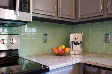 subway tile kitchen backsplashes grey kitchen cabinets with green backsplash nrtradiant com