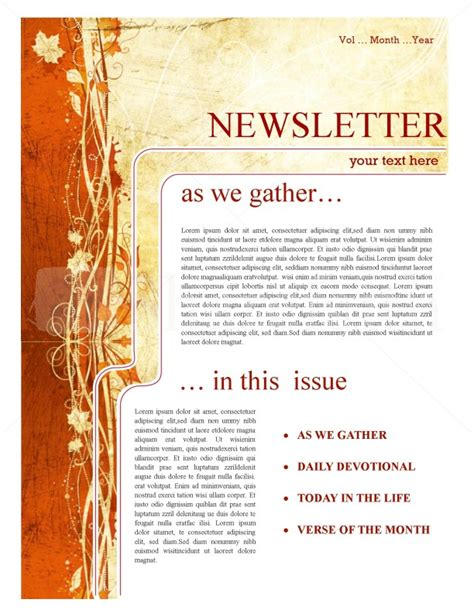 as we gather church newsletter template newsletter templates