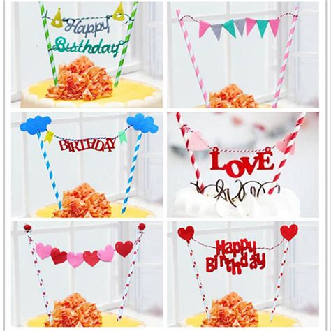 Hiasan Paling Josss Topper Cupcakes Topper Happy Birthday By Esslshop rainbow flags and banners cupcake toppers birthday cake
