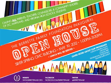 School Open House Flyer Template