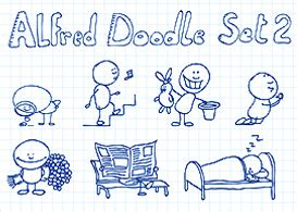 alfred doodle free vector alfred doodle set 2 free vector file