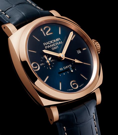 Panerai Luminor Gmt Blue Pam 688 Rosegold Blue Calf introducing four blue boutique only special editions from panerai sjx watches