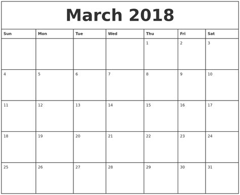 2018 Printable Monthly Calendar April 2018 Calendar Maker