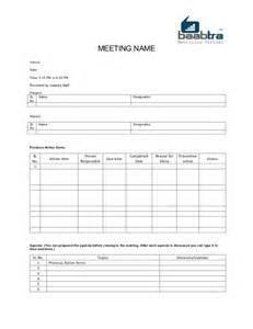 baabtra mom minutes of meeting template