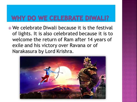 why do we celebrate diwali ppt