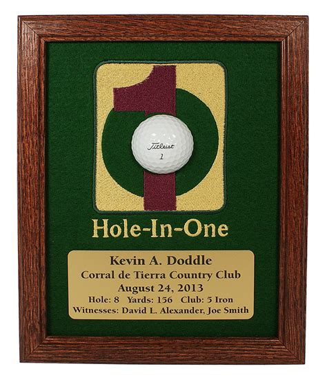 chions golf club plaques hole in one framed ball display greatgolfmemories com