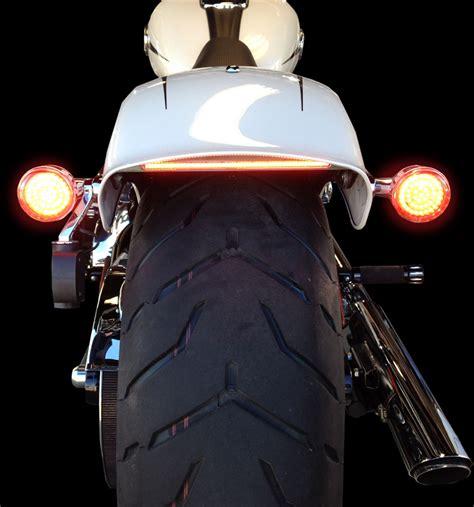 harley led tail light custom dynamics chrome led tail light strip 13 17 harley