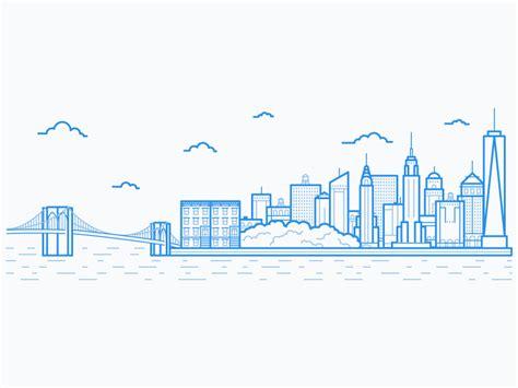 icon design nyc new york city skyline city skylines illustrations and