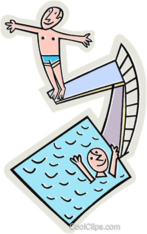 schwimmbad mit sprungbrett swimmingpool mit sprungbrett vektor clipart bild vc015555