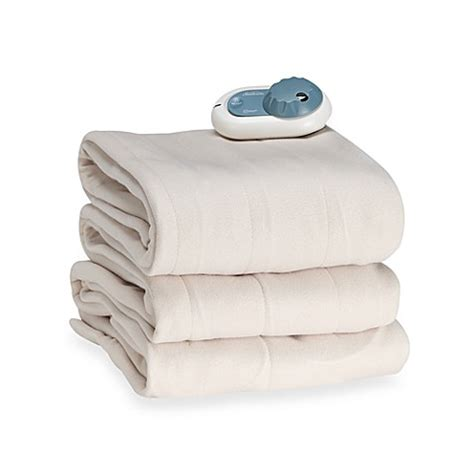 electric blanket bed bath and beyond slumberest by sunbeam 174 quilted fleece electric blanket