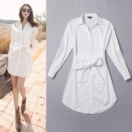Cover 9 Blouse Putih 2016 autumn winter fashion dress korean casual slim