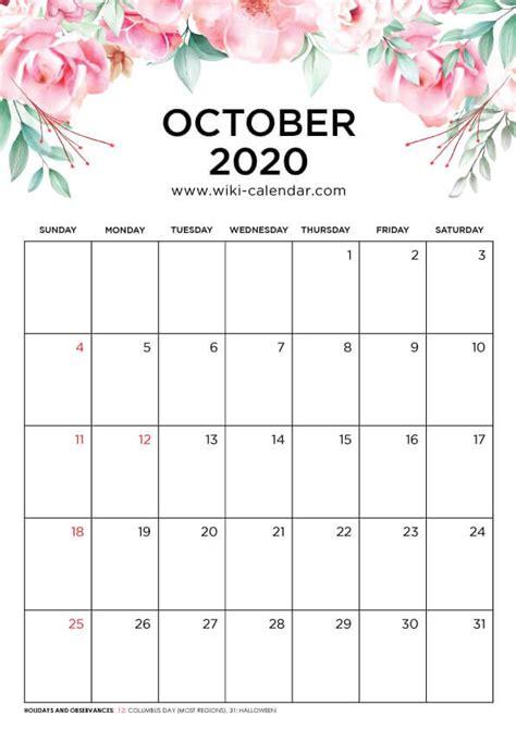 printable october  floral calendar calendar printables february calendar september