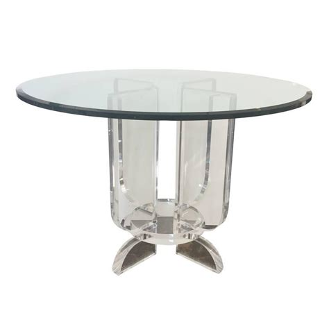 lucite dining room table lucite and glass round dining table at 1stdibs