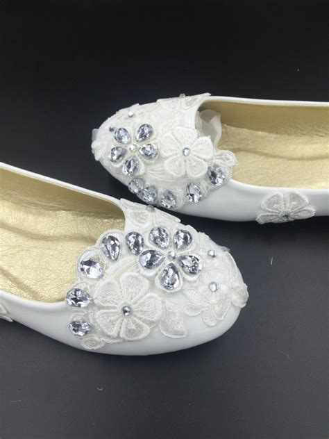 White Wedding Flats by Wedding Flats Ivory White Wedding Flats Bridal Ballet