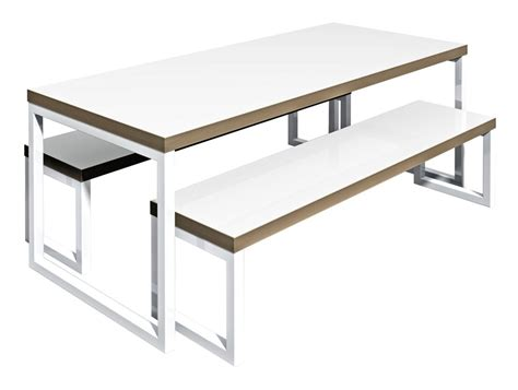 office benches furniture block steel white canteen table and benches canteen