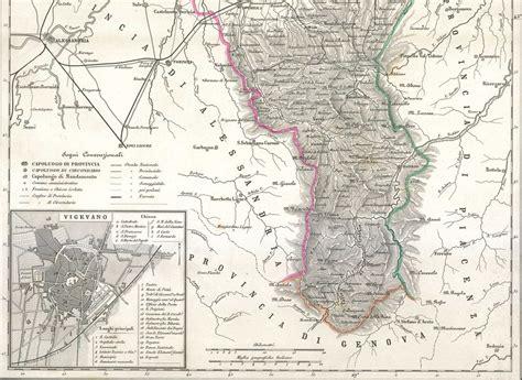 pavia cartina geografica pavia vigevano lombardia carta geografica vallardi 1868 ebay