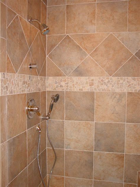 Ceramic Tiling A Shower by Walk In Shower Ceramic Tile Ideas Studio Design