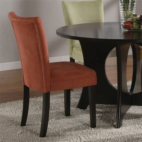 Microfiber Dining Room Chairs Dreamfurniture Bloomfield Microfiber Parson Side