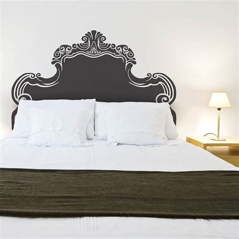 retro headboard vintage bed headboard wall sticker by oakdene designs