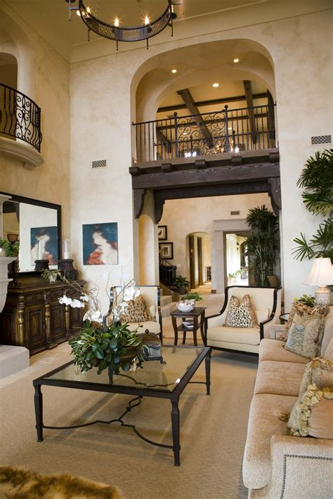 palatial two story master suite in mediterranean style 47 beautifully decorated living room designs