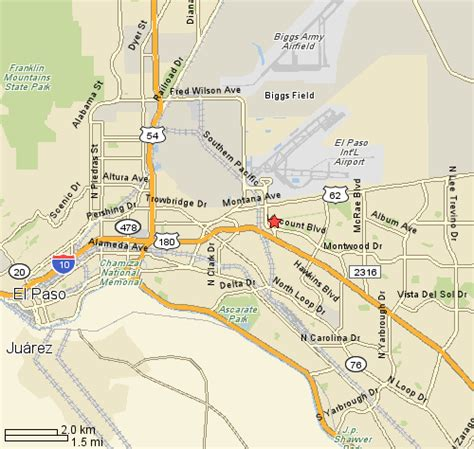 where is el paso texas located on a map regent care center