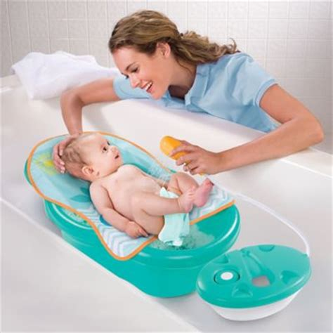 summer baby bathtub buy summer infant 174 bath tub sling with warming wings in blue from bed bath beyond
