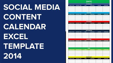 Social Media Editorial Calendar Excel Template Calendar Monthly Printable Social Media Calendar Template