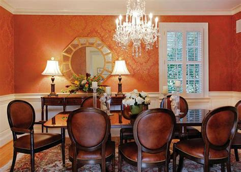 Modern Dining Room Paint Colors by Modern Dining Room Decorating Ideas Orange Paint Colors