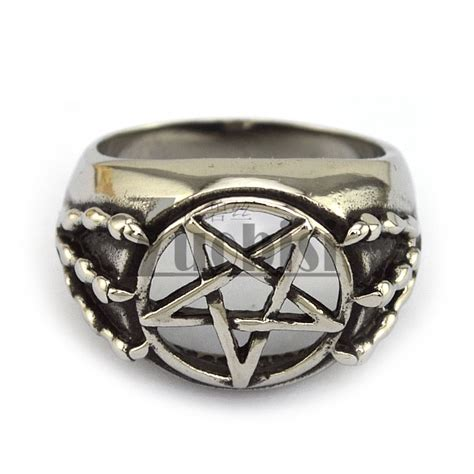 316l stainless steel magic ring of solomon king in rings