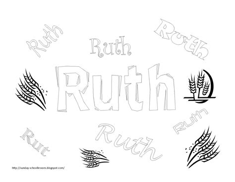 coloring pages for the book of ruth book of ruth free coloring pages for kids sunday