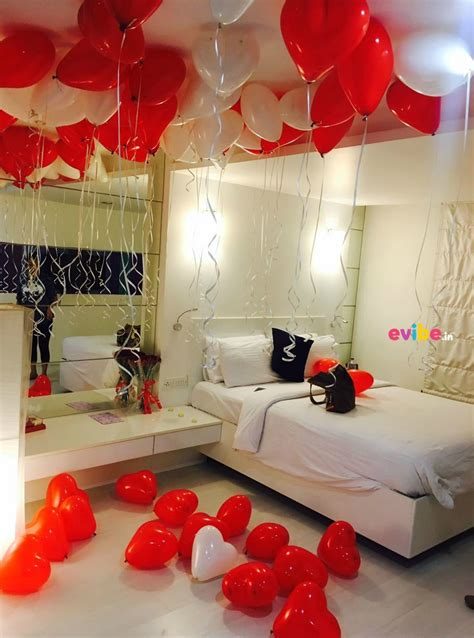 balloon bedroom decorations romantic balloon surprise ideas for husband in hyderabad