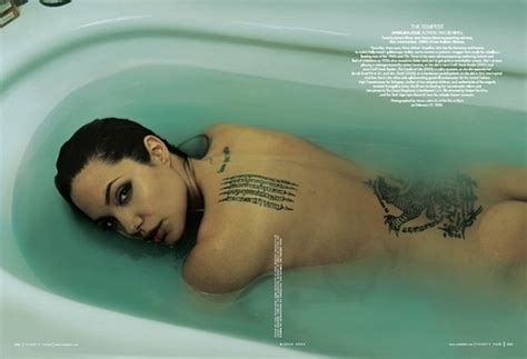 tattoo hot tub angelina jolie ass bath tub butt crack eyes image