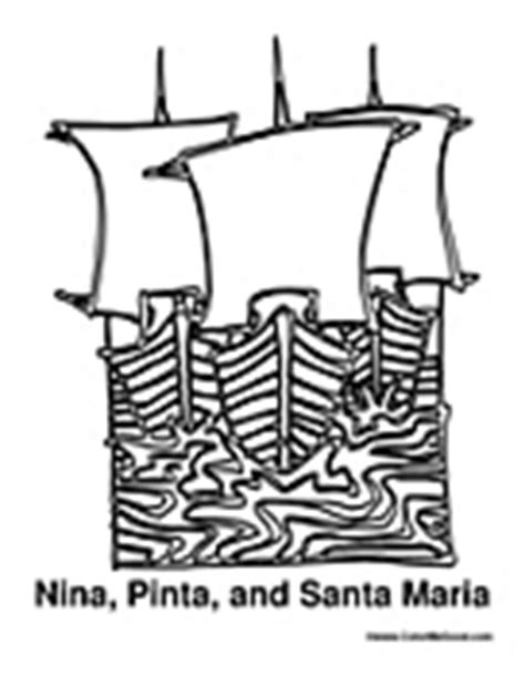 coloring pages of the nina pinta and santa maria free columbus day coloring pages